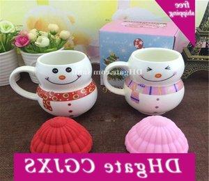 Ceramica nuovo fumetto di Natale del pupazzo di neve Seriesc presente regalo Cup G6jl
