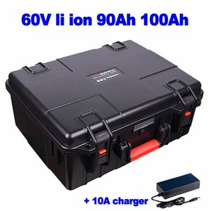 Wasserdicht 60V 90Ah 100ah Lithium Li-Ionen-Akku Besichtigung Auto AGV Gabelstapler Dreirad Golfrennroller 10A Ladegerät