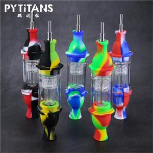 Silicon Dab Paille Phare Forme NC acrylique filtre coloré pipe Fumer Bong avec Nail Titanium Tip meilleur prix