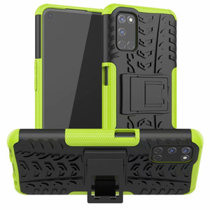 Pour Oppo A52 Case support robuste Combo hybride Armure Support d'impact Holster en option couverture pour Oppo A72 A92