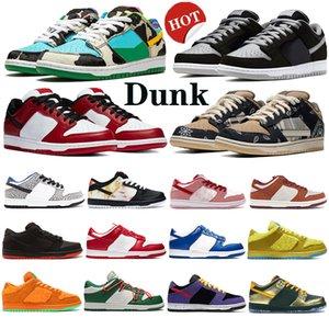Dunk Travis Скоттс Low Pro Mens Running Спортивная обувь Коренастый Dunky вельвет пыль Чикаго тапки белый цемент женщин скейтборд тень тренеров