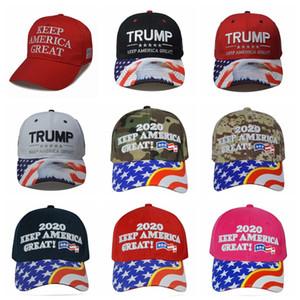 Camuflagem Cap Bandeira Donald Trump Hat Baseball Star EUA Mantenha América Grandes Chapéus 3D Letter bordado ajustável livre Snapback DHL