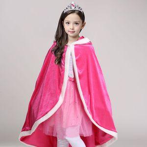 ABGMEDR Brand Fashion Winter 2020 Girls Warm Cloak Monsoon Kids Tops Outfits Children Clothing Girls Cartoon Furry Shawl Coat