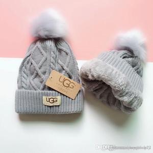 Kış Kadın Örgü Şapka Sıcak Pom renkli Yün Şapka Bayanlar Kafatası Beanie Katı Kadın Açık Caps