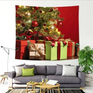 Christmas holiday series tree cloth art tapestry creative home Christmas background wall decoration wall decoration hanging picture X3383
