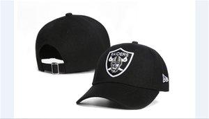 Caps 2020 mais novo All Time Golf Visor Foot Ball Snapback Chapéus Negro Cor Raider beisebol ajustável Bent Brim dos fãs para mulheres dos homens