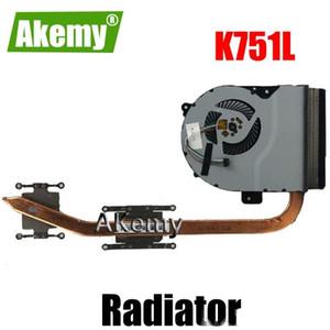 Akemy For Asus K751L K751 K751LK X751LK X751LA X751LD X751LN CPU fan cooling Radiator Heat sink Heatsink Cooler