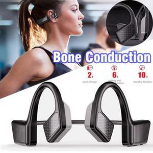 Cgjxs2020 New K08 Wireless Headphone Bluetooth 5 .0 Bone Conduction Headsets Wireless Sports Ear Hook Earphones With Mic 20x Dhl