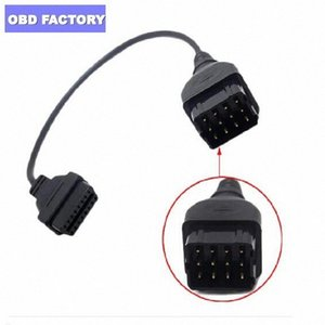For GAZ 12Pin To 16pin OBD2 Car Diagnostic Tool Adapter Cable For GAZ 12 Pin Russia Cars Cable Adapter nzk3#