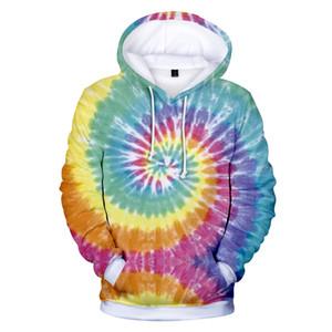 Tie Dye Hoodie Sweatshirt Top women men 3D Printed Hip Pop Hoodies Sweatshirts Pullover Tumblr plus size Jacket Coat 4XL clothes MX200808