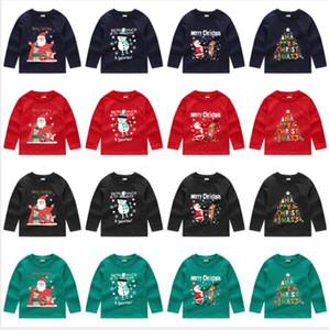 Children Hoodies Baby Boys Girl Christmas Sweatshirts Winter Long Sleeve Sweater T-shirt Pullovers Santa Claus Printing Clothes Tops E92403