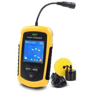 Portable Fish Finder sensore esterno Pesca Finder allarme profondità di visualizzazione Locator Con sensore del sonar del trasduttore e LCD