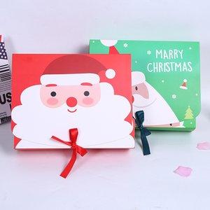 Sunar Şekerler Çerezler Paketi Noel Tema Hediye Paketleme Torbaları için Özel Tasarım Yeniden kullanılabilir Craft Kağıt Kutuları ile Noel Hediyesi Çanta