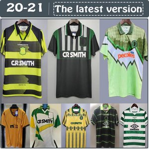 retro 1980 1991 1992 1995 1997 1998 1999 Celtic soccer jerseys 95 96 97 99 LARSSON NAKAMURA KEANE 91 92 Celtic yellow Sutton football shirts