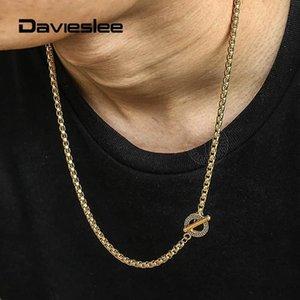 Ketten 18-36 inch Womens Herren Halskette 4mm Edelstahl Box Link Neckkette Einzigartige Muster Toggle Clasp LTNS00203