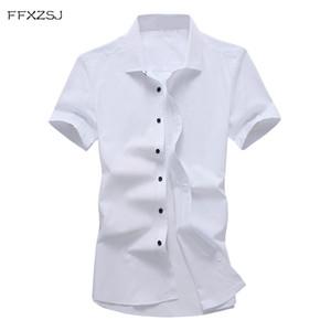 marque FFXZSJ FFXZSJ. Chemise à manches courtes de style décontracté hommes d'été nouvelle chemise de couleur pure