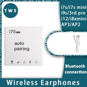 iPhone11 pro i7 i8x için i7 i7s TWS Twins Mini Kablosuz Bluetooth V5.0 Kulaklık Stereo Müzik Şarj Kulaklık kulaklık