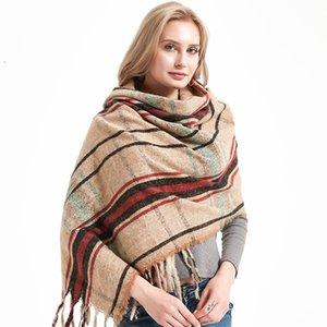 Plaid Cashmere Winter Warm scarf accessories 2020 scarfs for ladies Bufandas Hombre