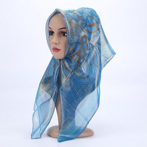 Women's towel hijab cloth printing fashion luxury silk scarf Muslim scarf line fashion accessories foulard mousseline 10 colors
