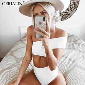 Solid Color Swimming Suit For Woman Bikinis Sexy Swimwear Bikini Set Bathing Suits Biquini Irregular One Shoulder Swimsuits