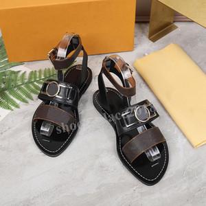 여성 샌들 여름 플랫 섹시한 발목 꽃 검투사 샌들 여성 캐주얼 슬라이드 신발 디자이너 여성 비치 Sandales 아가씨를 인쇄