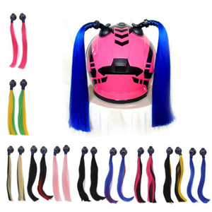 35cm Pigtails for Helmets Works on Helmets Hair Decoration for Motorcycle