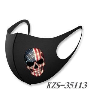 visage masque masques de mode crâne de drapeau national anti-chute entourant respirant masque chaud et lavable masque à chaud vente