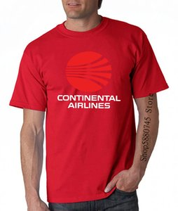 Continental Airlines Retro Logo Camiseta T dos homens Multi Color Novo presente de nós