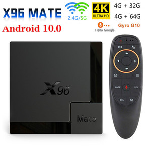 2020 X96 Mate Smart TV Box Android G10 Voice ile 10 Allwinner H616 4GB 64GB 32GB 2.4G5G Wifi, Bluetooth 4K HD Media Player Android TV Box