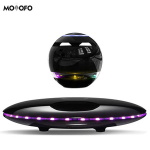 Manyetik levitating Hoparlör Bluetooth 4.0 LED Flaş Kablosuz Mikrofon ve Dokunmatik Düğmeler Hoparlörler Yüzer