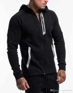 Men Sports Hooded Clothing Spring Panelled Mens Zipper Sweatshirts Mens Designer Cardigan Hoodies Casual Pullover Loose