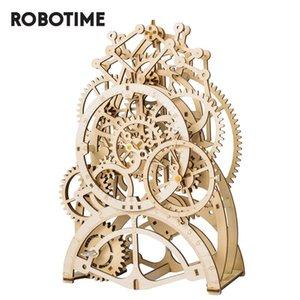 Lk501 حملة الميكانيكية لكيت 3D DIY خشبي الجمعية اللعب والعتاد الأطفال على مدار الساعة Robotime لغز نموذج روكر بناء البندول Eazrn