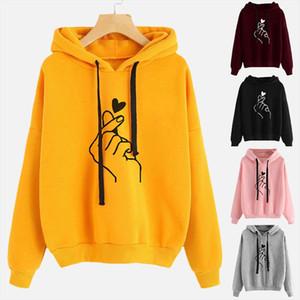 Harajuku Womens Sweatshirt and Hoody Casual Hoodies for Women Girls 2020 Autumn Plus size 4XL Pink Yellow Pullovers Female