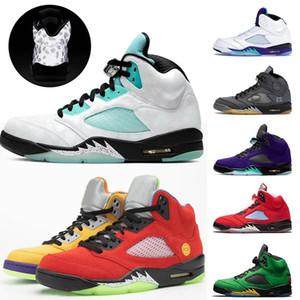 2020 Scarpe Hot Acquista Nuovo Mens di pallacanestro di Jumpman Uomini E Donne esterni sportiva rossa traspirante, scarpe Mesh Sneaker 5s assorbimento degli urti
