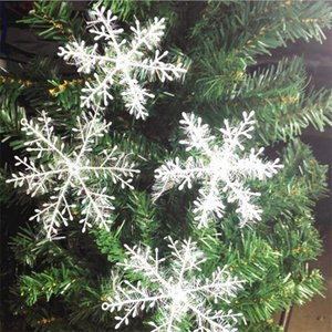 Hot Sale White Snowflake Decorations 2020 Christmas Tree Decoration for Home Weddding Party Window Stickers 3 pcs