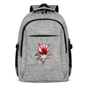 Five Finger Death Punch Logo zaino Sport Fashion decorazione, design retrò personalizzato riutilizzabile adatto a viaggio Backpack Righteous