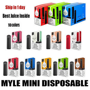Myle Mini dal dispositivo monouso Myle vapore dispositivo 2pcs Pod Starter Kit 320puffs 1ml cartuccia Pods Vape Pen Puff Posh Inoltre Bar Xtra