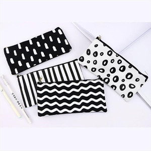 1 Pcs Portable Stripe Cosmetic Bag Multifunction Durable Canvas Travel Beauty Case Organizer Women Girl Make Up Pouch bag
