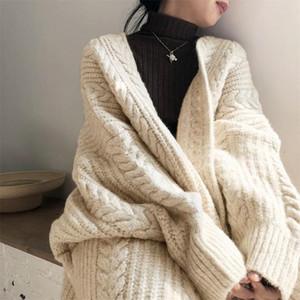 20200829 autunno e l'inverno maglia cardigan tocco retrò maglione lungo