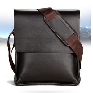 Mens-Aktenkoffer Geschäfts-Beutel Beiläufiges Geschäfts-PU-Leder Herren Messenger Bag Vintage-Männer Umhängetasche Tasche Bolsas Schwarz Braun Schultertasche