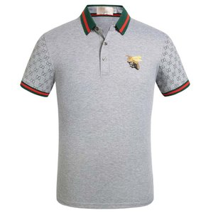 ww Markenentwerfer Revers Polo Polohemd Luxus-T-Shirts Schlange Biene Blumenstickerei Mens High Street Fashion Streifendruck Polo-T-Shirt