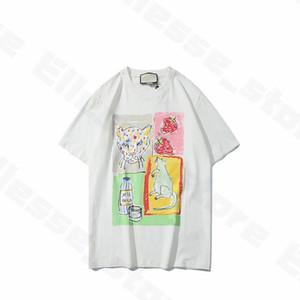여름 여성 디자이너 T 셔츠 동물 티셔츠 브랜드 패션 짧은 소매 레이디 티 캐주얼 의류 최고 의류 망 20ss 새로운 도착