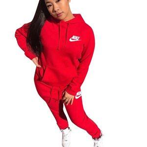 2021 de las mujeres chándal Carta 2 piezas Conjunto Sudadera con capucha + pantalones deportivos Traje Conjuntos Mujer capucha otoño invierno Mantenga Trajes calientes para la mujer