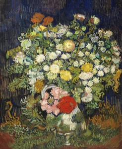 Vincent Van Gogh Décoration murale Bouquet de fleurs dans un vase Home Déco Peinture à l'huile sur toile Wall Art Toile Photos 200822