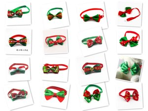 hxl 100pc lot Christmas Holiday Dog Bow Ties Cute Neckties Collar Pet Puppy Dog Cat Ties Accessories Grooming Supplies