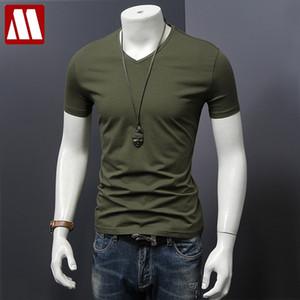 MYDBSH Men Brand Clothing Summer Solid t-shirt Male Casual tshirt Fashion Mens Short Sleeve t shirt Plus Size 5XL Free Shipping 200925