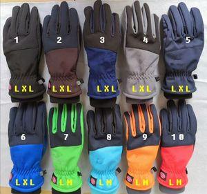 Guantes de brillo de invierno Guante de moda Guante a prueba de viento Mittens DNSEEX Telefinger Tela Screen Screen Sport Riding Fleece Glove 10Color M-XL