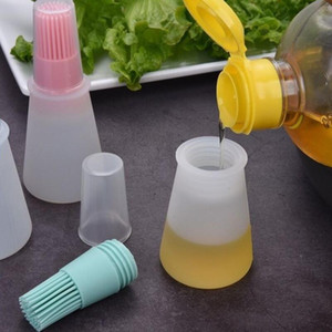 Silicone oil bottle high temperature brush with lid Barbecue baking brush controllable BBQ oil brush LX3359