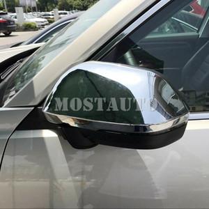 Para Volkswagen VW Atlas 2017- 2019 ABS Chrome 2pcs espelho retrovisor traseiro da tampa da guarnição