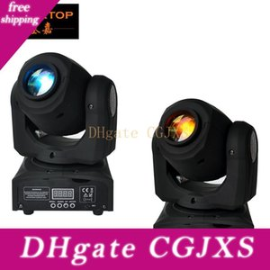 Frete grátis 2xlot Mini Led Moving Head Spot Light High Power silencioso trabalho DMX512 Luz Mini Disco Party Night Club
